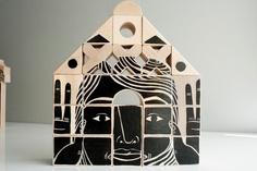 Phalanx (Wood Sculpture) Set C. $200.00, via Etsy.
