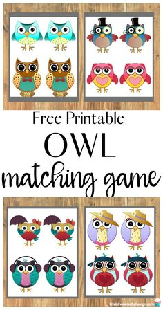 Get your free Owl Memory Game Printable and have a blast at home with your kids. This matching game is simple and fun for the whole family. Owl Crafts Preschool, Preschool Activities, Preschool Projects, Owls Kindergarten, Kindergarten Activities, Owl Activities, Toddler Activities, Matching Games For Toddlers, Baby Owls