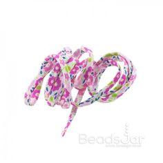 Liberty of London Pink Print 4mm Ribbon Cord Fairford - See more at Beads Jar UK!