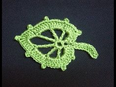 How to Crochet a Leaf Pattern #4 - Free Video Tutorial by ThePatterfamily.