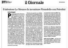 """29 marzo 2010 - Il Giornale - Enrico Groppali su """"Non Si Sa Come"""""""