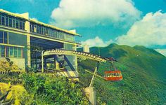 Venezuela - Caracas, Cable Car to the Top of Mt. Avila    Teleferico, estacion de llegada, emocion a 2.100 m.  Funicular to the Avila's top 6,405 feet, every exciting  Caracas - Venezuela    postmarked in 1970 with a Venezuela stamp