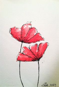 Discover recipes, home ideas, style inspiration and other ideas to try. Watercolor Poppies, Red Poppies, Abstract Watercolor, Watercolor Paintings, Flower Painting Abstract, Poppy Flower Painting, Poppies Art, Poppies Painting, Watercolour Drawings