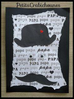 """Pour garder le secret le plus longtemps possible, je n'ai pas publié avant les cadeaux réalisés par mes Petits Crabichounes pour la fête des pères. Voici l'un d'eux, une carte """"Monsieur Papa"""" avec l'empreinte de main au dos. Vous pourrez toujours garder... Fathers Day, Diy And Crafts, Blog, Cards, Mother And Father, Gifs, Fathers Day Crafts, Card Ideas, Gift Ideas"""