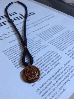 Necklace made with a Mayan nahual or nawal made with by SoyColor