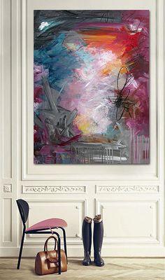 rikkelaursen | S H O W R O O M  Abstract painting by Rikke Laursen