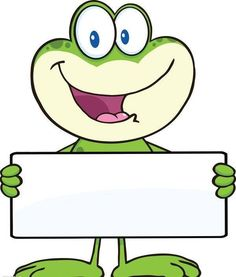 Illustration of Cute Frog Cartoon Mascot Character Holding A Banner Illustration Isolated on white vector art, clipart and stock vectors. Frog Theme Classroom, Classroom Decor, Frog Crafts, Cute Frogs, Cute Clipart, Borders And Frames, Illustration, Coloring Pages, Kindergarten