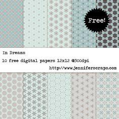 In Dreams - Free Digital Paper Pack