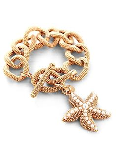 A little marine life makes for swell arm candy: Women's Caviar #Starfish Bracelet via @Talbots