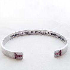 Hidden Message Medical Alert Bracelet any by faeriekissageStudio