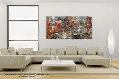 """Large Canvas Abstract Painting """"Can't Stop"""" - Modern Abstract Painting for Sale."""