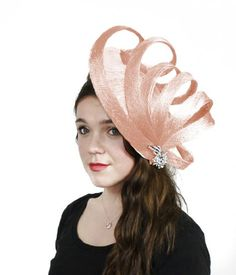 Hats By Cressida 13 Inch Sherry Cobler Sinamay Ascot Fascinator Hat Women's With Headband - Baby Pink Hats By Cressida,HATS http://www.pinterest.com/arealdealo/hats/  http://www.amazon.com/dp/B00BAY411Y/ref=cm_sw_r_pi_dp_SiLrsb0CPYJVRVPC