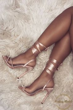Satin Lace Up Heels by simmishoes