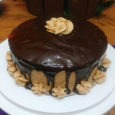 Spring 2016 This was made solely out of boredom.  Chocolate cake w/ Peanut butter buttercream.  Topped w/ homemade chocolate ganache.