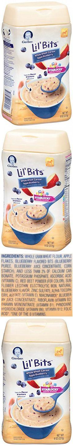 Gerber Graduates Lil' Bits Cereal - Whole Wheat Apple Blueberry - 8 Oz