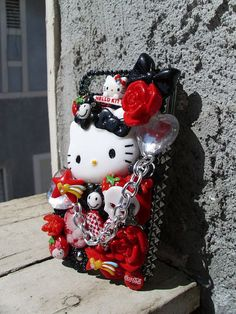 Hello Kitty iPhone Case with spikes and chains!