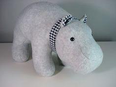 stuffed hippo Funky Friends Factory pattern