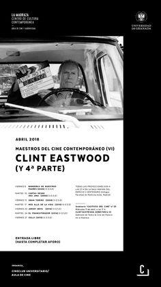 """Ciclo que, durante el mes de abril de 2018, estará dedicado a la filmografía más reciente del actor y realizador estadounidense Clint Eastwood, y que permitirá volver a disfrutar en la gran pantalla de títulos imprescindibles como """"Gran Torino"""", """"Banderas de nuestros padres"""" o """"Cartas desde Iwo Jima"""". #MaestrosCineContemporáneo #ClintEastwood #CineClubUGR"""