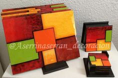 Painting On Wood, Fused Glass, Glass Art, Coasters, Dining, Elsa, Crafts, Ideas, Decorative Wood Painting