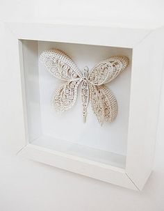 Laser cut butterfly artwork  #papercrafts #diy #lasercutting