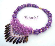 Tutorial Fiesta Necklace  Beading pattern pdf by Ellad2 on Etsy, $8.00