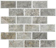 Travertine fireplace tile