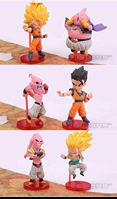 Anime Cartoon Dragon Ball Z Majin Buu Gotenks Saiyan Son Goku PVC Action Figures Collectible Toys 6p @ niftywarehouse.com