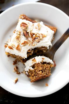 Applesauce Cake - Absolutely delicious applesauce cake with NO flour and healthier swaps!