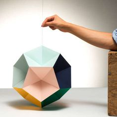Optical Geometric Decorations - The Mono Mobile by Clara Von Zweigbergk is Multi-Dimensional (GALLERY)