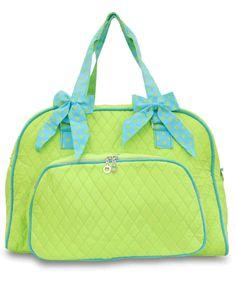 d4cc68f075 Large Quilted Lightweight Polka Dots Duffle Bag Women Teens Cheer Dance  Travel