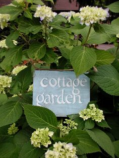 Hand Painted Reclaimed Wood Cottage Garden Sign.