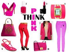 Think Pink Style board  Created by: Jennifer Palpallatoc
