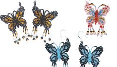 Butterfly Earrings by Rita Sova