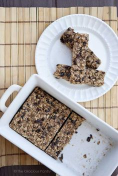 These no bake Oatmeal Granola Bars are the best! The coconut oil & almond butter really knock these out of the park! Add whatever nuts or dried fruit you prefer! The ones I made have coconut, Craisins & pecans! You won't believe they're actually clean!