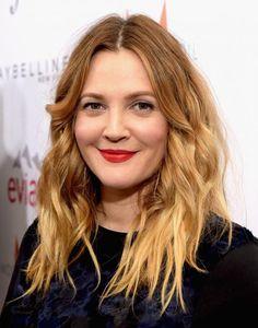 Schauspielerin Drew Barrymore: Immer noch helle Spitzen und dunkler Ansatz, aber weiche Übergänge