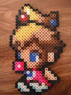 Baby Princess Peach from Mario perler bead design
