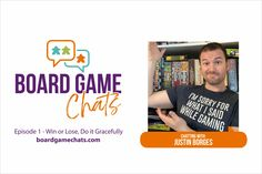 """Chris and Myron welcome Justin Borges to this inaugural episode of the Board Game Chats Podcast. Please have a listen: boardgamechats.com Also subscribe on Apple Podcast, Stitcher, Audible, and Spotify. You can also listen on your Amazon Alexa (say """"Alexa play the podcast Board Game Chats""""). #BoardGame #Podcast #BoardGamePodcast #BoardGameChats Gamer T Shirt, Fun Board Games, Win Or Lose, Tabletop Games, Geek Stuff, Boards, Geek Things, Planks, Board Games"""