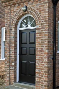 Bespoke front door with fanlight window above. You design it we can make it & Eco doorset supplied by PDS offering high quality timber doors ... pezcame.com