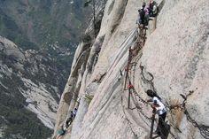 Hike Cliff Side Plank Path of Mount Hua (Huashan), China - Bucket List Dream from TripBucket