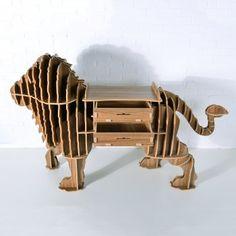 Safari Life Wood Safari Trophy Draw - Lion - Safari Life from Cult Furniture UK