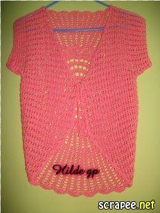 DE MIS MANOS TEJIDOS Y MAS...: Chaleco circular a crochet color salmón