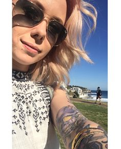 (Loc) Posted on May 24 2016 at 12:42PM: Beautiful day in Bondi Beach  Check out my snapchat for details of my trip and behind the scenes shooting Bondi Ink! Snapchat: Megan-Massacre  by megan_massacre