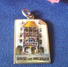 Seltener Bettelarmband Anhänger Innsbruck Emaile 800ER Silber Charms Emaille | eBay