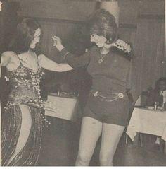 نبيله عبيد وسهير ذكى فى احد السهرات فى شيراتون القاهرة 1970