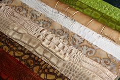 Upholstery fabric (embossed leather) for chairs, beds or benches from Barbarossa Leather.