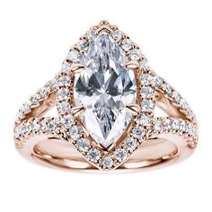 Get a 1.0ct Marquise diamond for $1,370 on diamondhedge.com #EngagementRings #rosegold