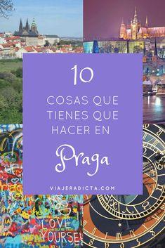 No te pierdas las 10 mejores cosas que tienes que hacer en Praga! #viaje #praga #turismo Travel Goals, Travel Packing, Travel Guide, Places To Travel, Travel Destinations, Places To Visit, Gap Year, Tours, Eurotrip