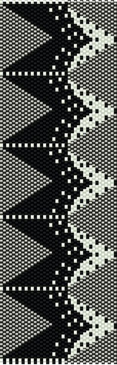This Miyuki Delica Bead Peyote Pattern is designed for Size 11 Beads. Width: 2.01 / 38 columns Length: 6.3 / 91 rows Colors: 3 Stitch: one-drop even peyote stitch  You can also choose other colours according to your taste. Naturally you can shorten this bracelet for your desired length.  The pdf file includes: 1. picture of the pattern 2. a large, detailed graph of the pattern, 3. a bead legend with the colour numbers and count of the delica beads for the suggested length 4. a word chart of…