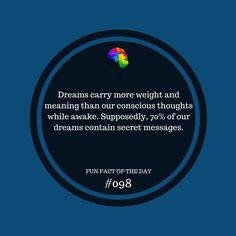 What's the last thing you dreamt? #funfact