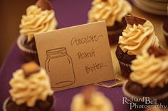 Chocolate peanut butter wedding cupcakes from Cupcake DownSouth - positively rich, melt-in-your-mouth scrumptious | photo credit Richard Bell Photography #weddingcupcakes #charlestonweddings